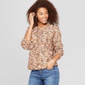 Universal Thread Brown Subtle Shine Crew Sweater